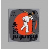 PVC nalepka Ju-Jutsu, kovinska
