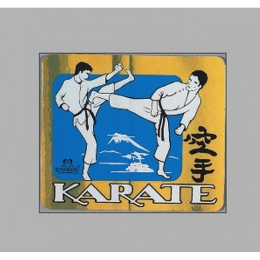 PVC nalepka Karate boj, kovinska