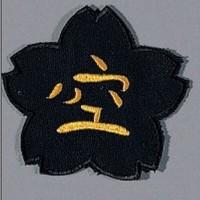 "Sewn badge Karate cherry blossom"""""