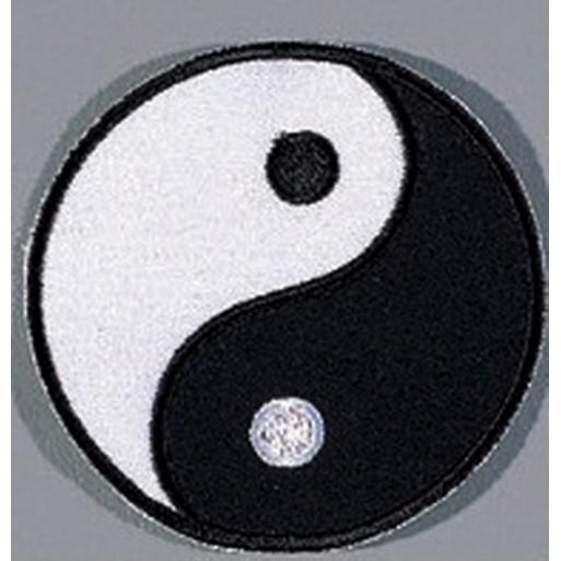 "Sewn badge Heaven and Earth"""""
