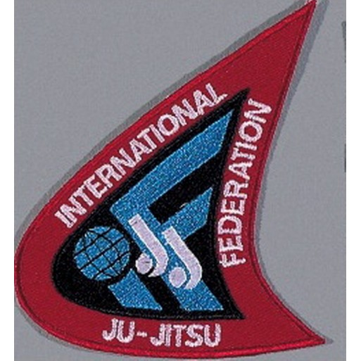 Sewn badge International Ju-Jutsu Federation