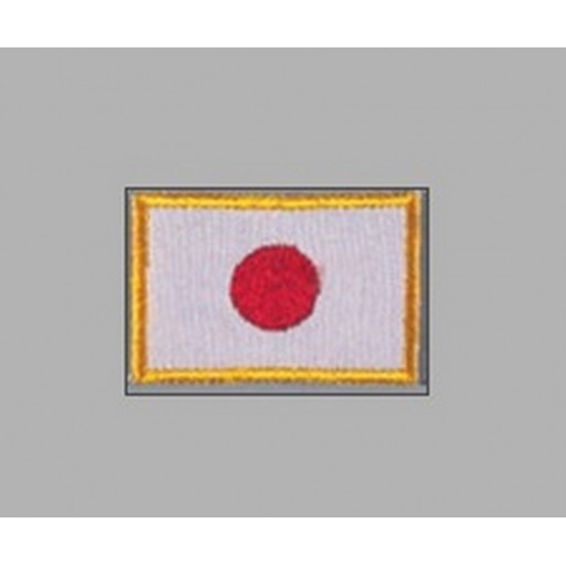 Sewn badge Flag Japan 5x3 cm