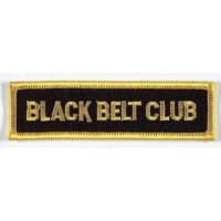 Sewn badge Black Belt Club