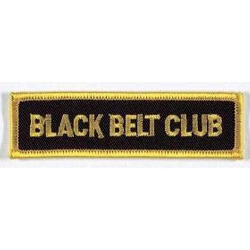 Sewn badge Black Belt Club