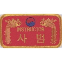 Sewn badge Instructor