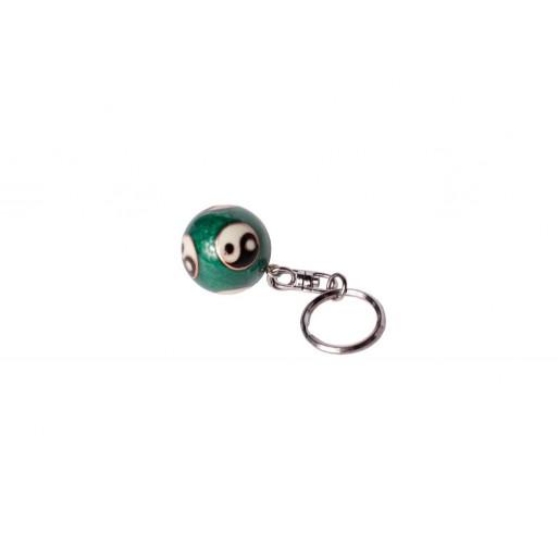Kovinska kitajska krogljica, obesek za ključe.