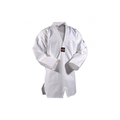 DANRHO Taekwondo Dobok Kukkiwon, bel ovratnik