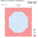 Set of 2 corners Octagon mat A