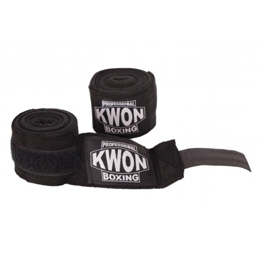 Professional Boxing Bandages elastic black 5m