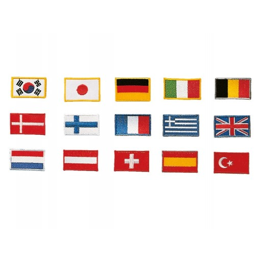 Sewn badge flags (different countries )