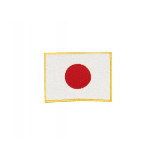 Sewn badge jap. flag 6x8 cm