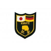 Sewn badge Karate black