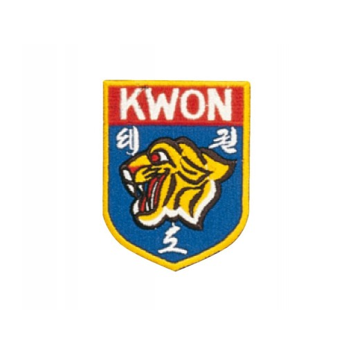 Sewn badge KWON tiger head