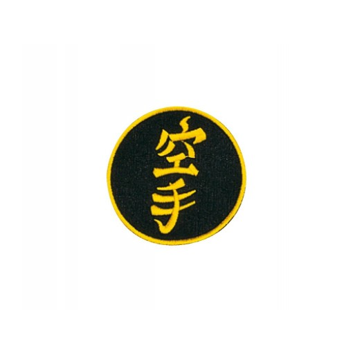 Sewn badge Karate black/gold
