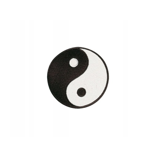 Sewn badge Yin Yang