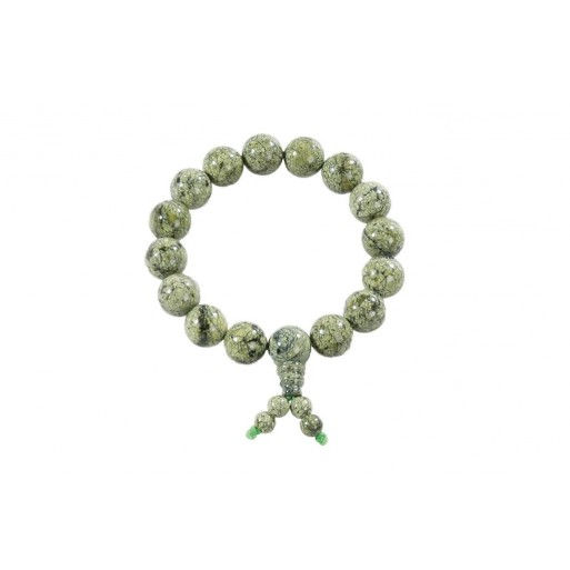 Šaolinska zapestnica iz zelenega kamna