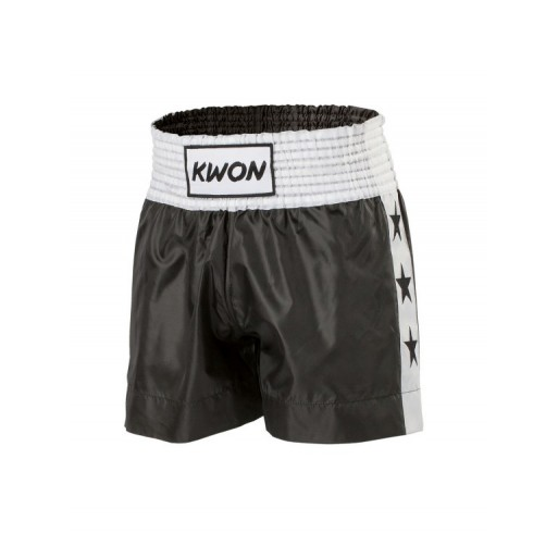 Thaiboxing shorts black with white stars