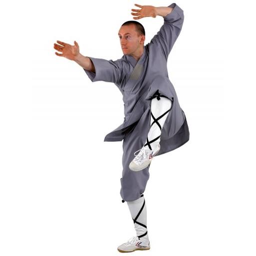 Shaolin uniforma v sivi in oranžni barvi