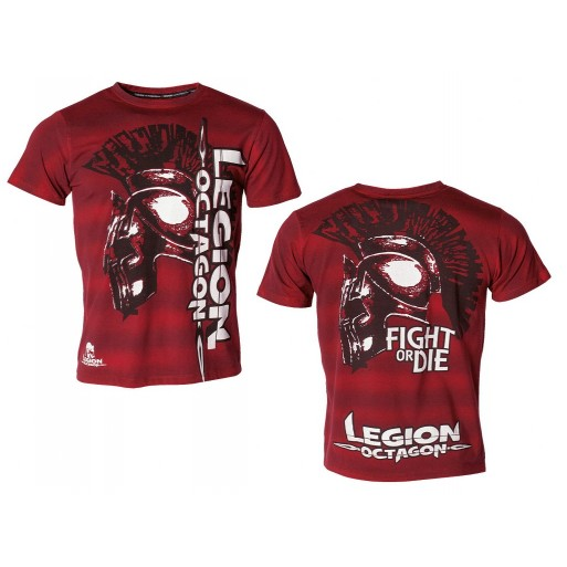 LEGION OCTAGON majica Fight or Die, rdeča