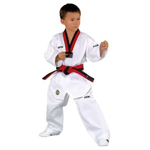TKD Uniform Victory white with black/red lapel