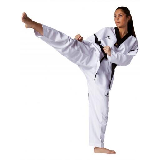 Taekwondo kimona Revolution Black Mesh WT odobrena