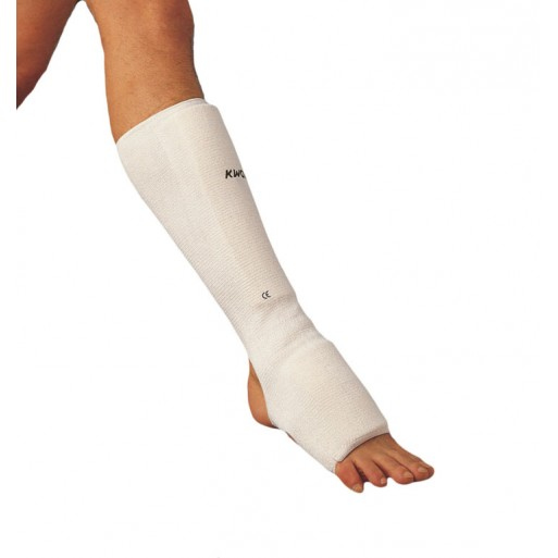 Shin and instep protector fabric